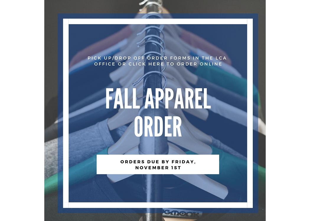 Fall Apparel Order